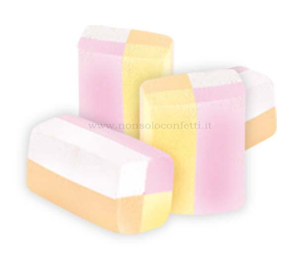 Marshmallow gommine colorate busta da 1 kg. bulgari.