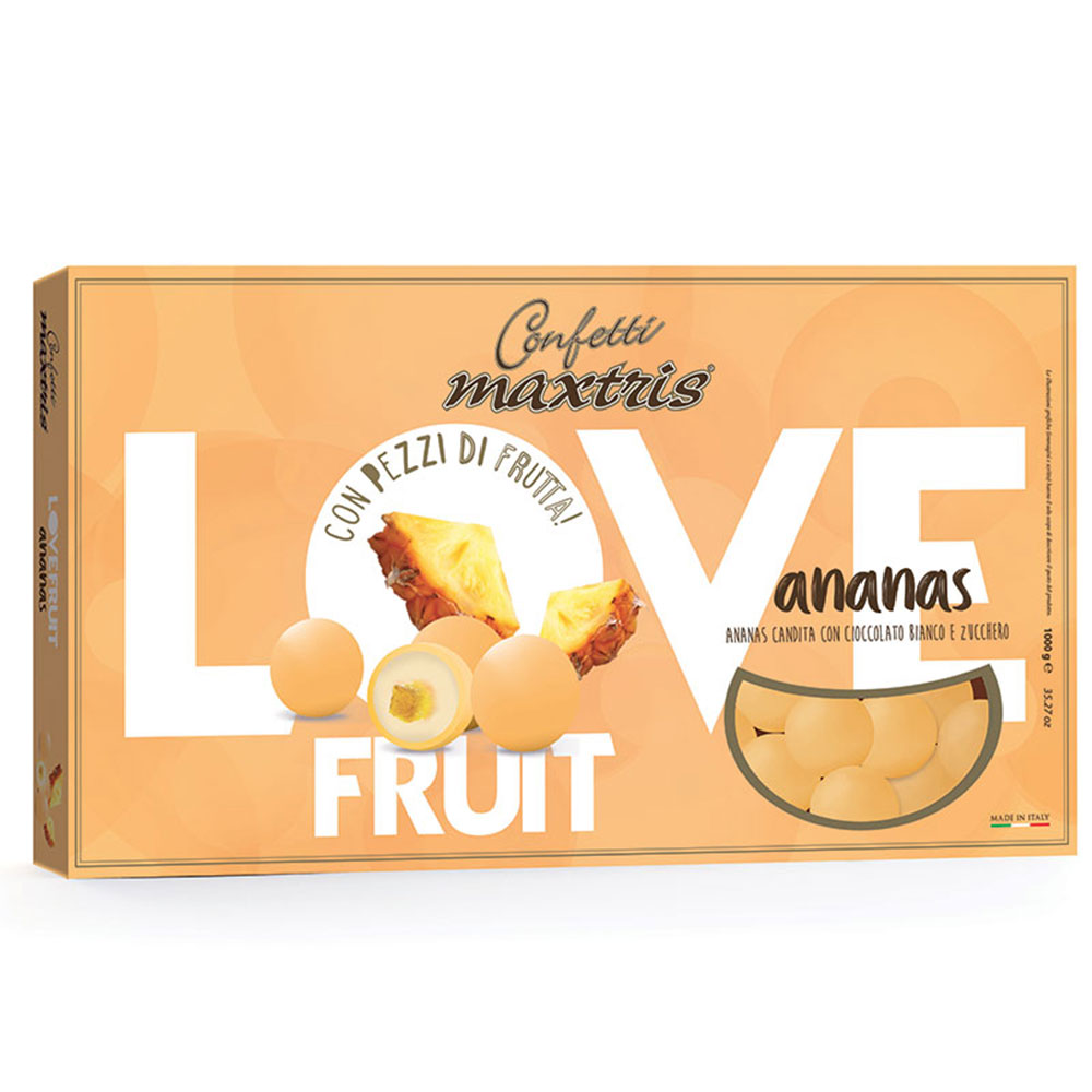 Confetti maxtris love fruit ananas 1 kg..