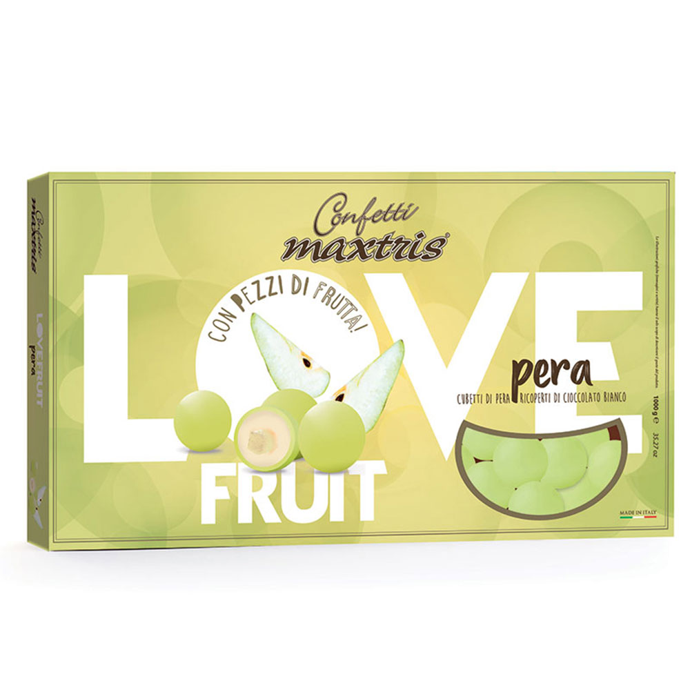 Confetti maxtris love fruit pera 1 kg..