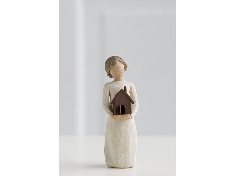 Statuetta casa mia willow tree mis. 5x4,5x14(h) cm.
