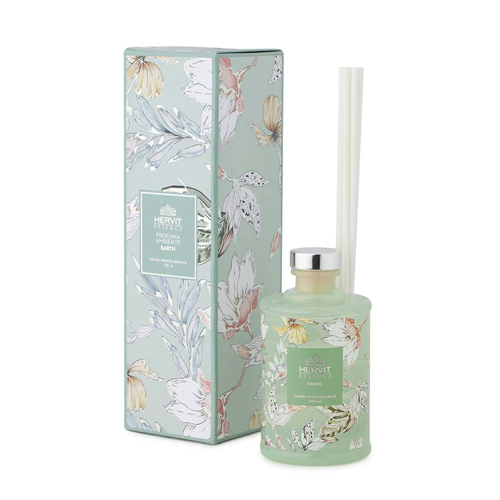 Profumambiente verde fragranza earth blooms hervit mis. dia.6.5x12(h) cm. 180 ml.