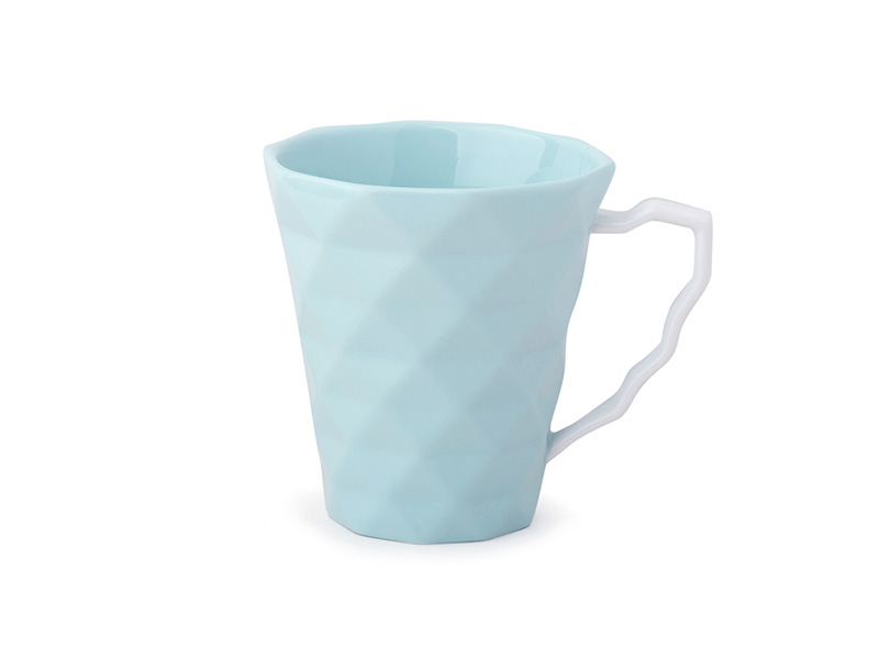Set da 2 tazze mug color acqua in porcellana hervit mis. dia.9 x 10 cm..