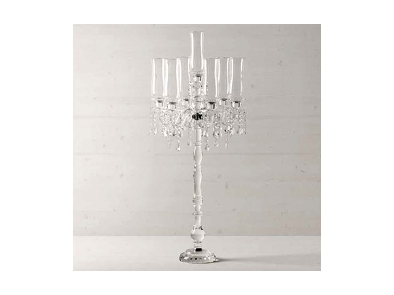 Candelabro in cristallo louis hervit.