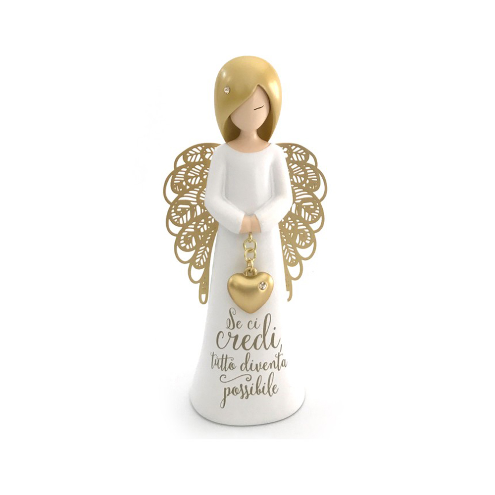 Angelo se ci credi tutto diventa possibile you are an angel mis. 12 cm..