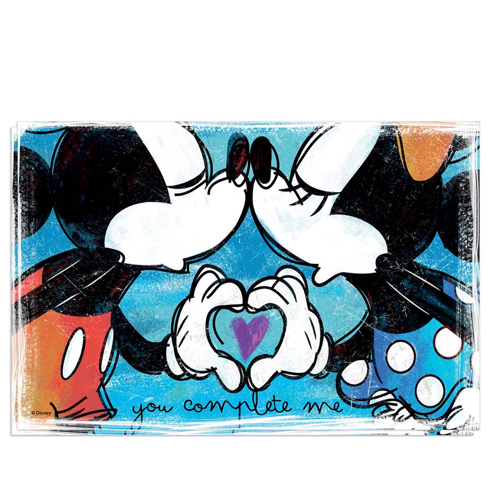 Set di 2 tovagliette blu egan walt disney mickey in love mis. 45x30 cm..