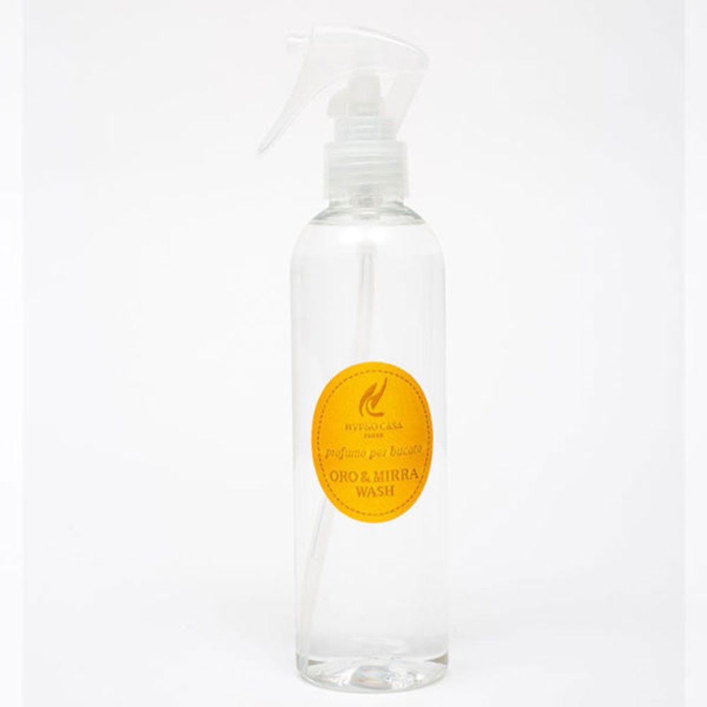 Spray per tessuto oro e mirra wash hypno casa 250 ml.