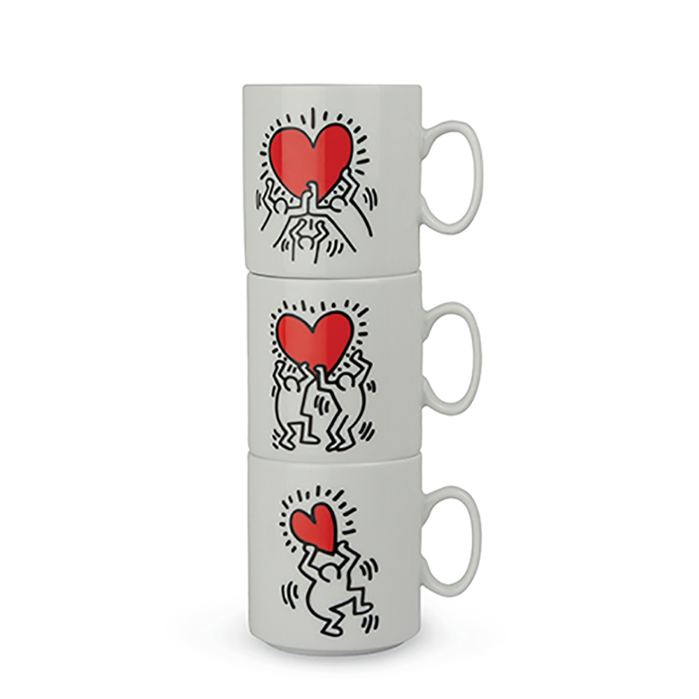 Set 3 mug impilabili linea keith haring 300ml. .