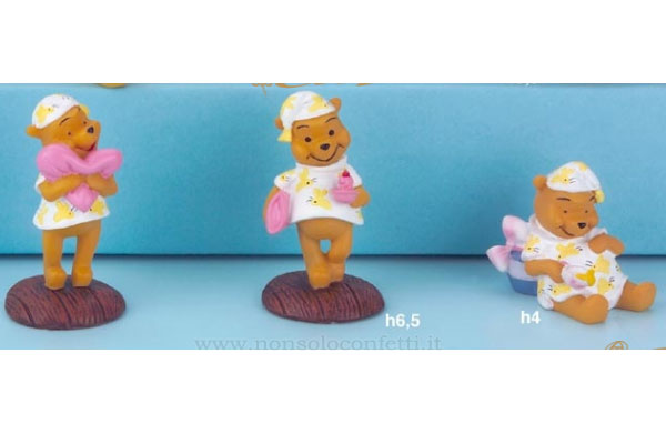 Winnie the pooh bomboniere disney dolce notte in resina mis.6,5cm.