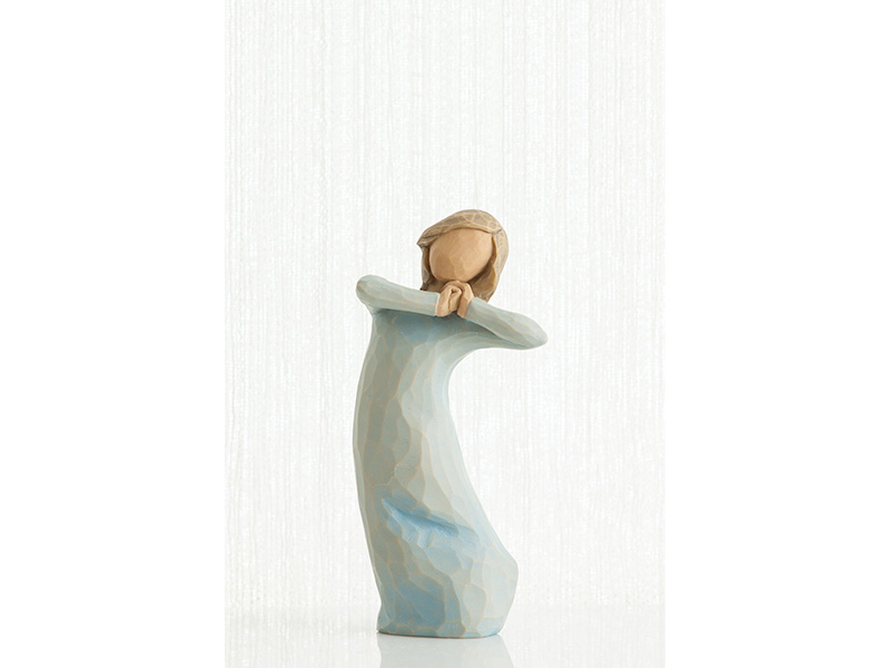 Statuetta viaggio willow tree mis. 13 cm.